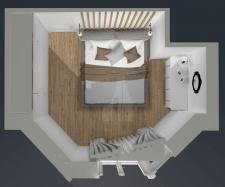 Візуалізація плану спальні
