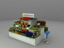 3d торговый остров - визуализация
