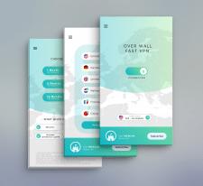 Дизайн для мобильного приложения VPN