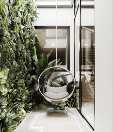 Внутренний сад в частном доме