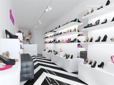дизайн интерьера магазина обуви ТЦ Кубометр