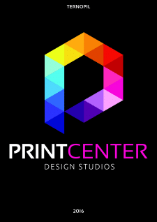 Logo for Print Center design studio