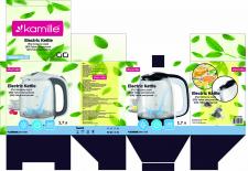 дизайн упаковки для чайника. вектор