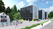 Визуализация экстерьера многоэтажных домов