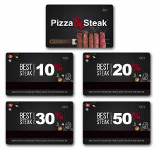 "Разработка дисконтных карт для  ""PIZZA & STEAK"""