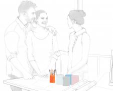 иллюстрация для блога по архитектуре, процесс
