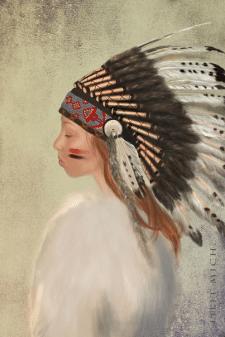 Девушка индеец