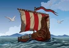 Viking ship / Векторная иллюстрация