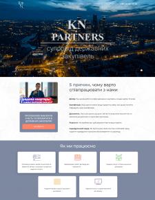KN-Partners — сайт фирмы юридических услуг