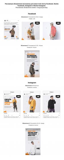 Таргетинг для бренда одежды в FB и Instagram / eng