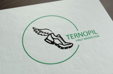 "Логотип для ""Ternopil Half Marathon"""