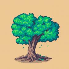 Пиксель Арт - дерево