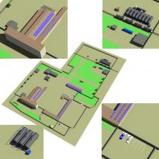 3Д модель промышленной базы