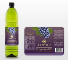 Этикетка для виноградного масла