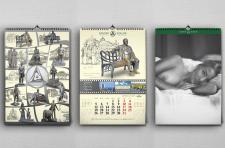 Дизайн календаря типа президент