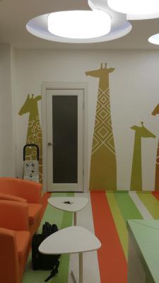 Роспись стен в детской стоматологической клинике