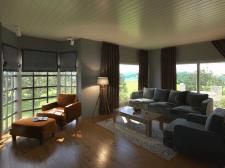 Визуализация дизайна интерьера гостиной комнаты