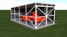 Визуализация гаража на одну машину