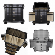 3D модель Louis Jewelry Chest by Hives and Honey