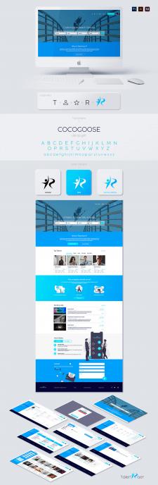 Дизайн сайта в синих цветах