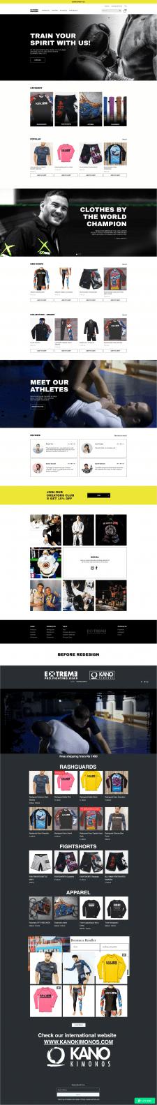 Extreme - редизайн спортивного интернет-магазина