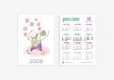 календарь для магазина пряжи