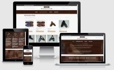 Сайт-каталог для мастерской обуви