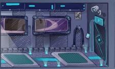 Дизайн комнаты для космического корабля