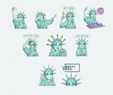 Персонаж и стикеры для студии Liberty Video