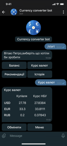 Currency converter bot