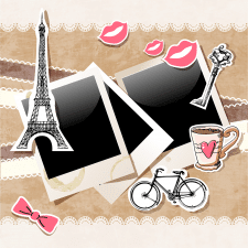 Set of Paris symbols