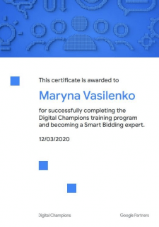 Сертификат по интеллектуальным стратегиям в Google