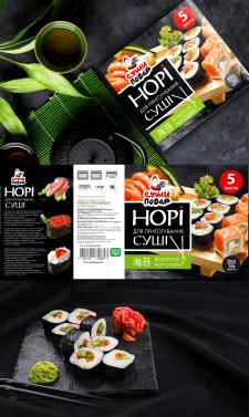 """Дизайн упаковки для водорослей """"Нори"""""""
