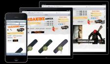 Адаптивная вёрстка интернет-магазина Thedakine