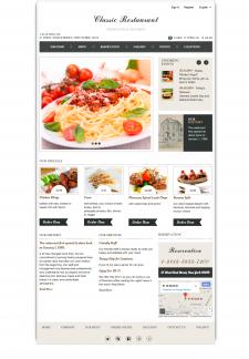Вёрстка макета :: Classic Restourant