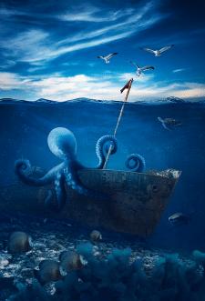 Подводный мир (коллаж)