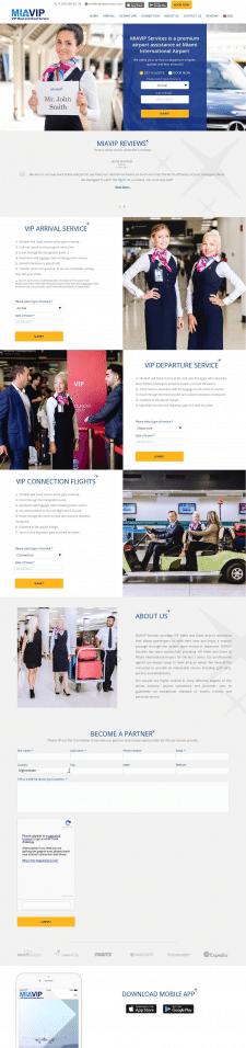 Сайт сервиса по встрече клиентов