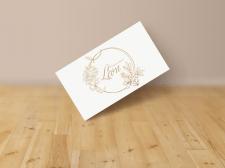 """Logo для цветочного салона """"Leon"""""""