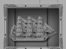 Скетч. Миниигра корабль.