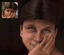 Создание художественного портрета в разных техника