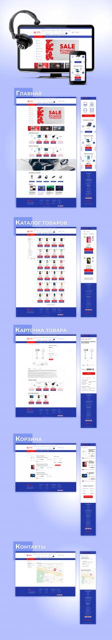 Верстка сайта (интернет-магазин)