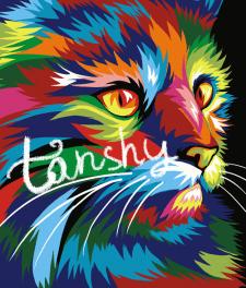 портрет кота в стиле поп арт авторская работа