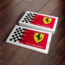Дизайн этикетки для одежды бренда Ferrari