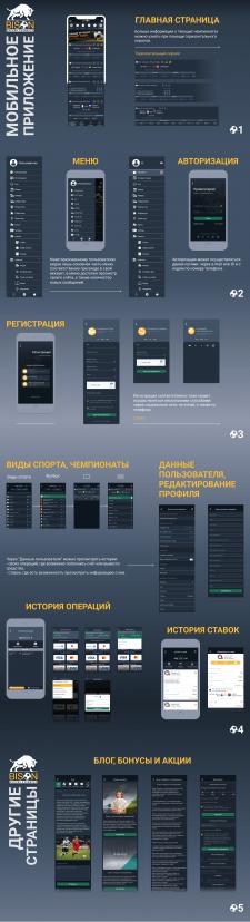 """UI/UX дизайн приложения """"Bison"""""""