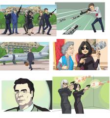 несколько страниц комикса