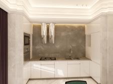 Дизайн кухня в частном доме.