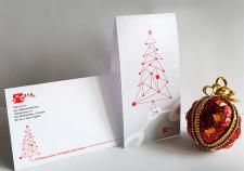 Новогодняя корпоративная открытка, конверт