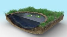 Садовый пруд в разрезе