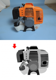 Отрисовка мотора в векторе