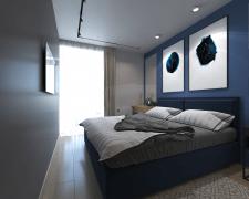 Интерьер семейной квартиры с открытым зонированием